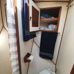 Bathroom starboard cupboard above toilet