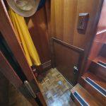Engine room door near master cabin