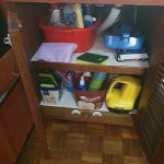 Galley cupboard under the sink (5) - mostly cleaning stuff
