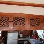 Galley overhead cupboards from saloon