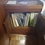 Master cabin - bedside cupboard for book storage
