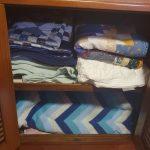 Master cabin - linen cupboard