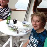 Son and Robert fishing (2014)