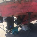 Rudder/props anti-fouled