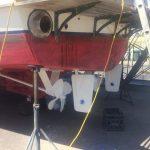 Rudder/props prepped