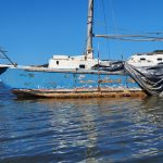 During low tide you'd see this boat is on the bank of Long Island, and has extensive barnacles