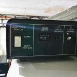 Engine room Kohler Generator start/stop switch