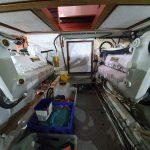 Engine room from aft showing door