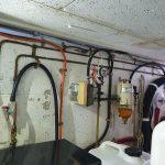 Engine room fuel transfer system at aft