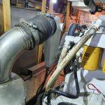 Engine room showing blower port side