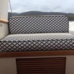 Flybridge seating with new covers
