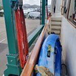 Slings in place (port side)