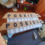 Transom nameplates prepared