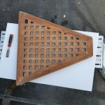 Shower base board before