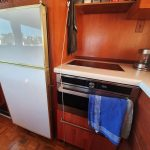 Microwave and large cupboard secured
