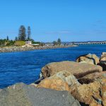 View of the channel you enter between Tuncurry and Foster