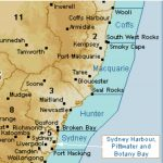 BOM clickable map for weather at Hunter, Macquarie and Coffs