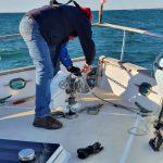 Robert organising the anchor