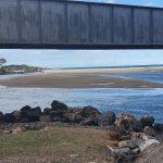 View under railway bridge