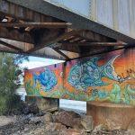 Graffiti on art