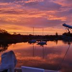 Spectacular Yamba sunset on 7 Dec