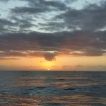 Sun coming over the horizon.