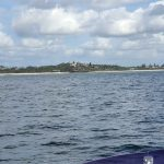 North side of Ballina, that we explored from the land the week before.