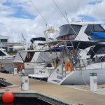 Our berth at Hope Harbour marina