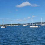 Boats anchored at Horseshoe Bay