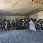 Moreton Bay Trailer Boat Club Marina - bike storage (some bikes left behind)