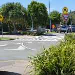Bin chicken using the crosswalk