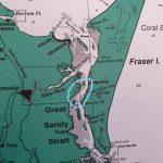 Photo of map circling the area of Sheridan Flats