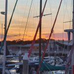 Sun setting over Hervey Bay
