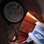 CM437 Rate Gyro Compass in a cupboard in the pilot house.