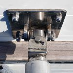 Gooseneck fitting now attached to outside of the boat.