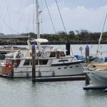 Poseidon, tucked up in the marina