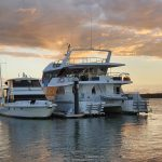 Sunset at the marina,