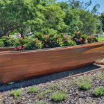 Planter boat - great use of a spare boat..