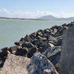 Marina rock wall
