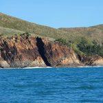 Rugged cliffs along the way