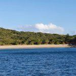 Sandy  beach on the island