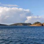 Passing  islands as we head into Hexam Island bay