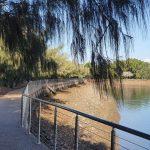 Walking path to Spinnaker Park