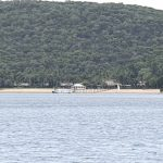 Distant view of Orpheus Island Lodge