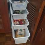 Galley pantry unit (replaced single shelf in cupboard)