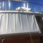 New aft deck cover, protecting teak