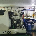 Engine room Kohler generator without cover