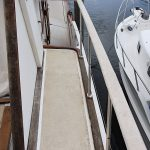 Flybridge starboard side with new 'rain director' in place