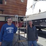 Robert and friend Paul re-installed the swim ladder