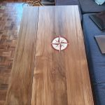 Table with drop leaf up